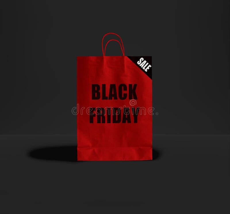 黑星期五纸袋 免版税库存照片