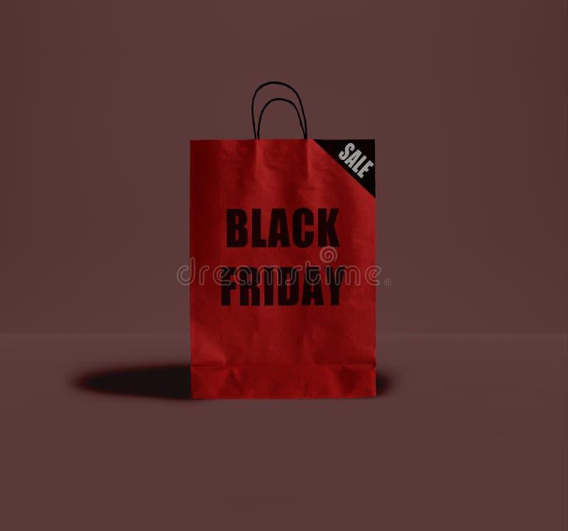 黑星期五纸袋 图库摄影