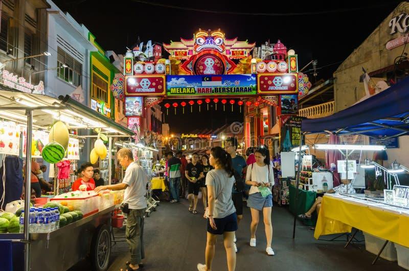 星期五,星期六夜市和星期天是永克尔街,它的最佳的零件卖 图库摄影