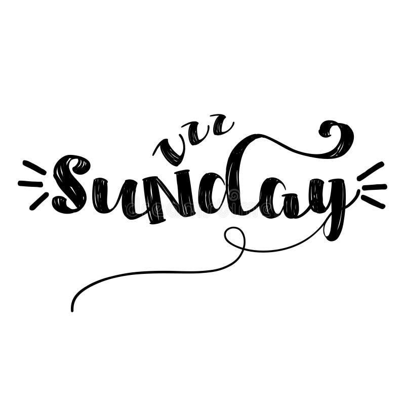 星期天-激动人心的书信设计 库存例证