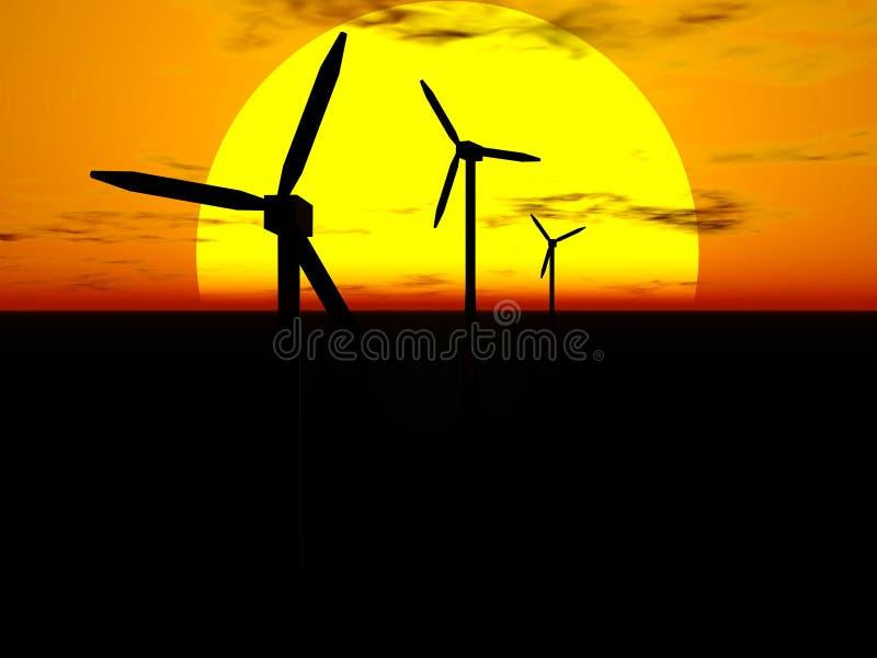 星期日涡轮风 向量例证