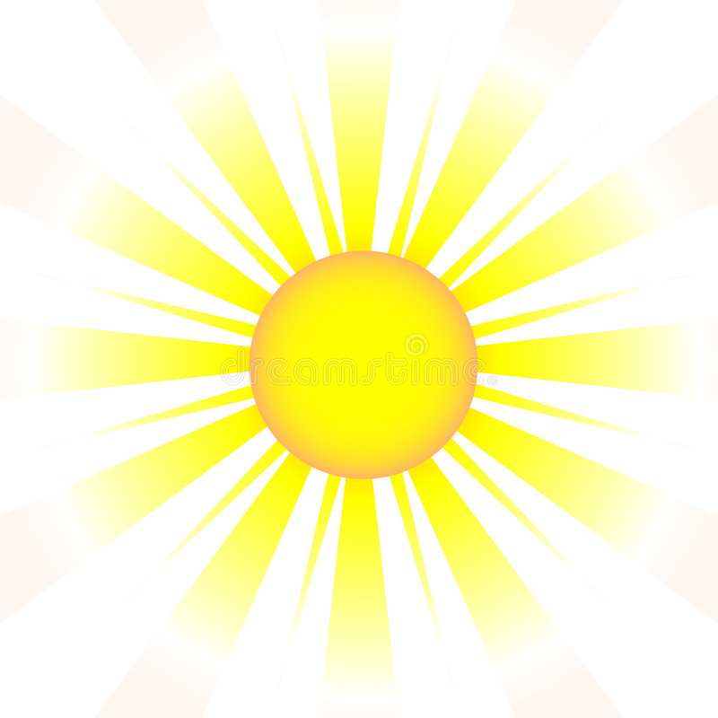 星期日(向量)的图画要素 皇族释放例证