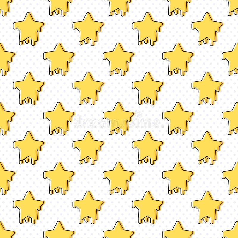星标志无缝的样式 向量例证