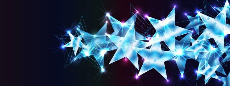 星流程欢迎您横幅作用RGB 皇族释放例证
