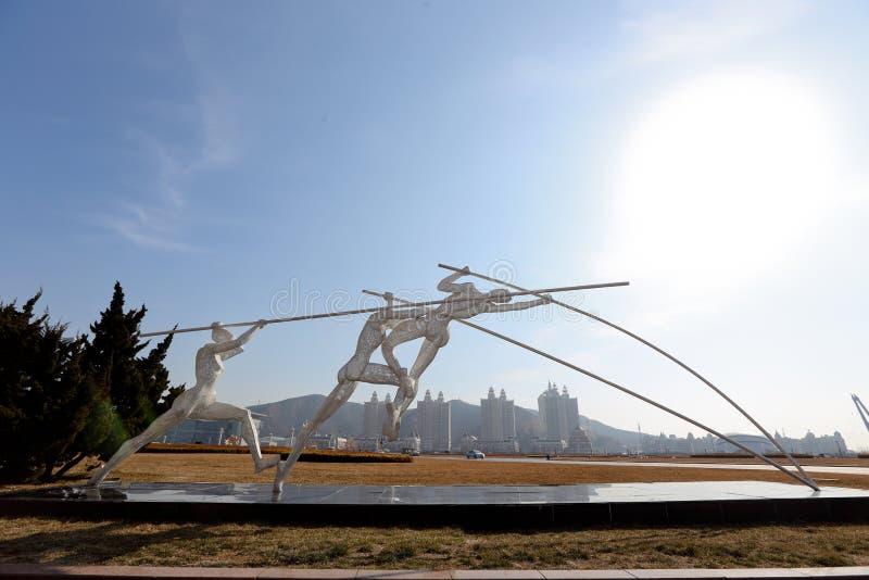 星海广场雕塑运动 图库摄影