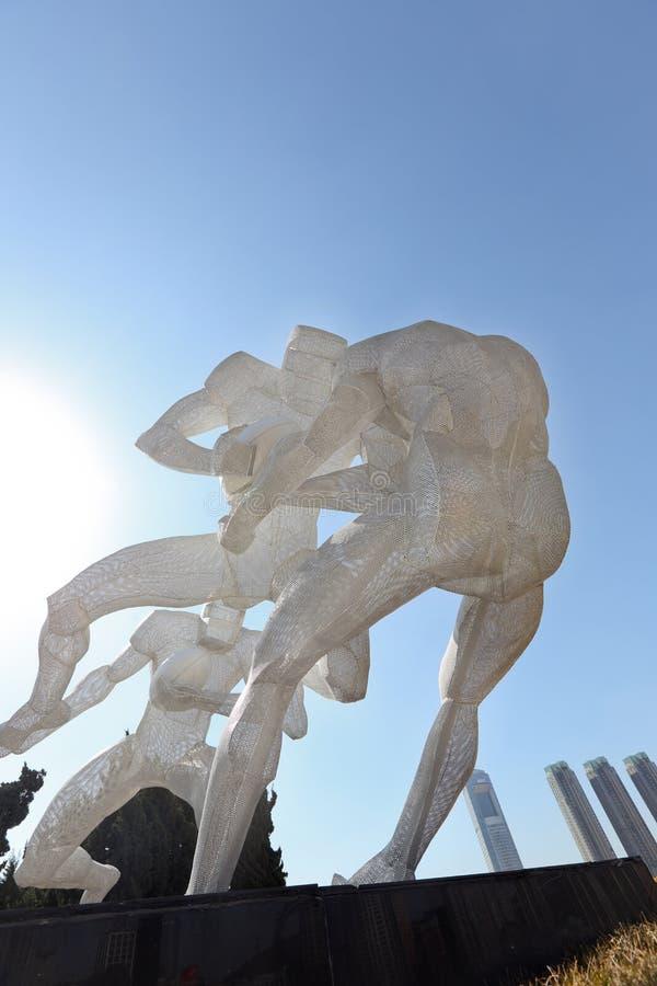 星海广场雕塑运动 库存照片