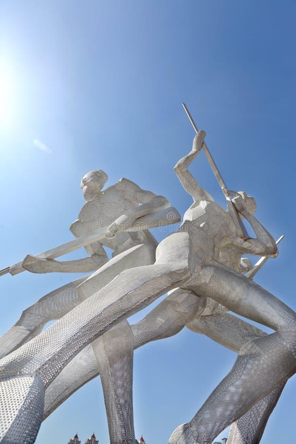 星海广场雕塑运动 免版税库存图片