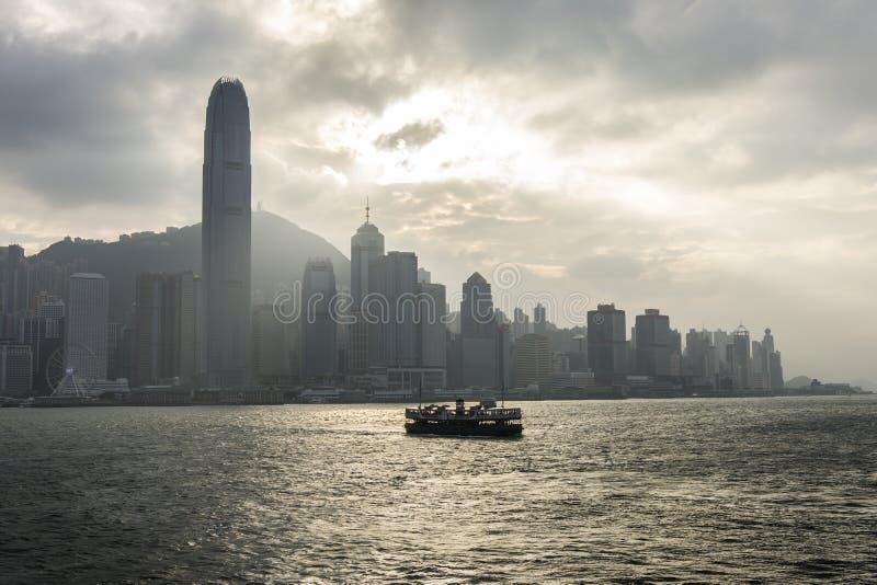 星渡轮在香港 库存照片