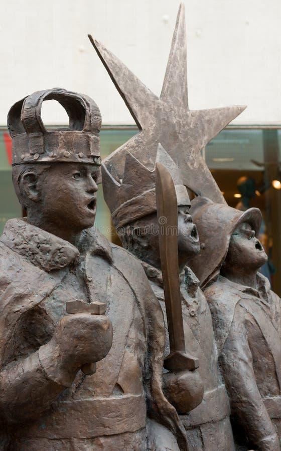 星男孩纪念碑 奥卢,芬兰 图库摄影
