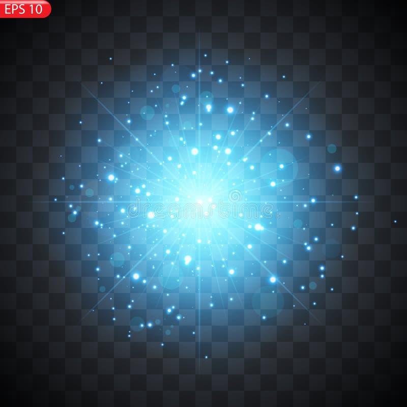 星的光线影响 库存例证