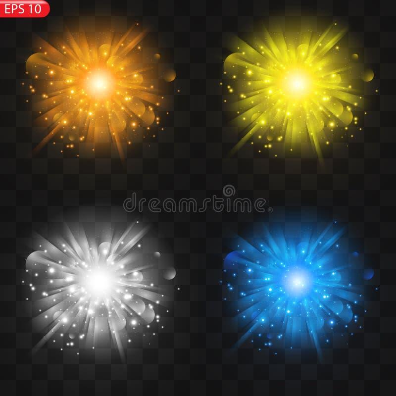 星的光线影响 皇族释放例证