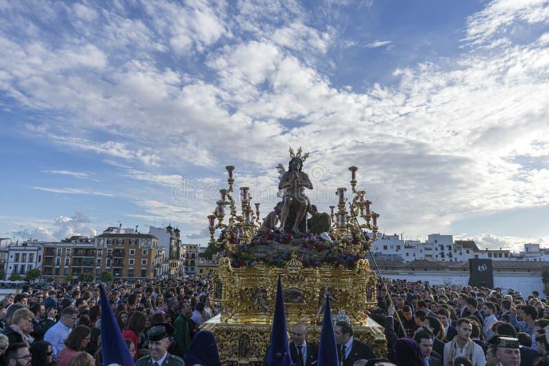 星的团体,圣周在塞维利亚 库存图片
