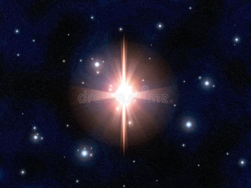 星的展开 库存例证