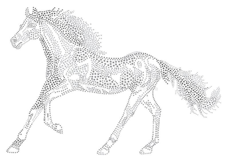 Download 星的马 向量例证. 插画 包括有 形状, 计算机, 汉语, 占星, 结算, 例证, 天空, 剪影, 黑暗 - 62532127