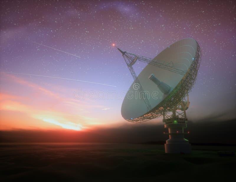 星系信号的巨型卫星探测器 免版税库存照片