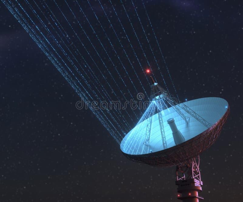星系信号的巨型卫星探测器 库存图片