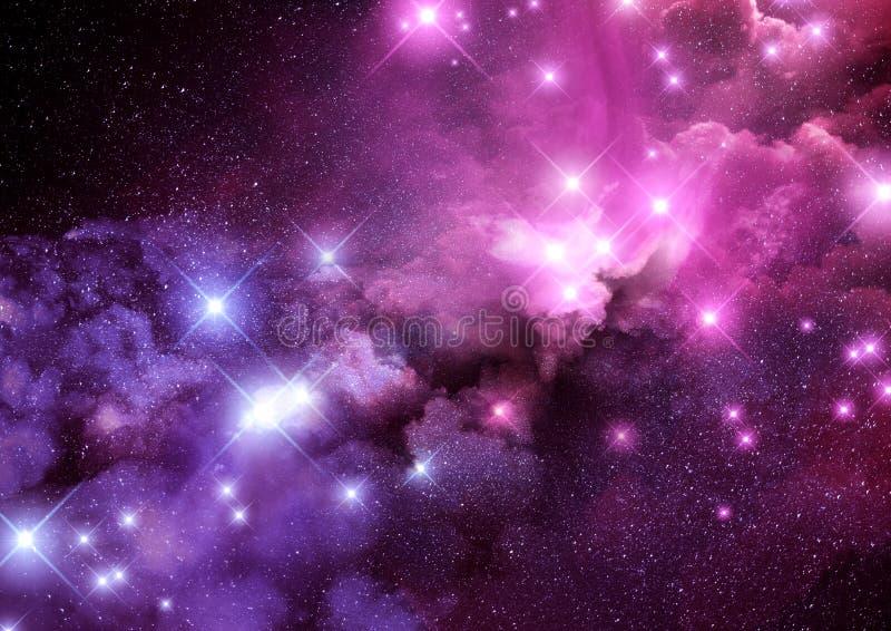 星系星云背景 皇族释放例证