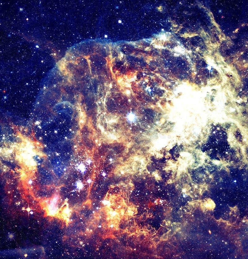 星系的看法与星的在外层空间 免版税库存图片