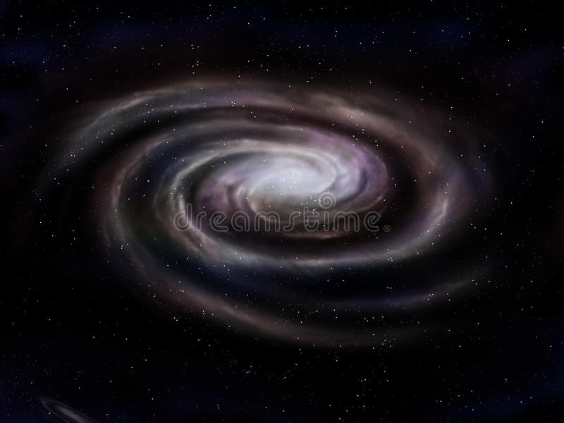 星系螺旋 库存例证