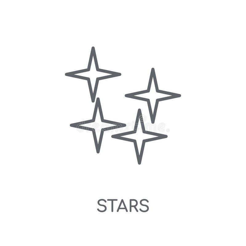 星线性象 在白色ba的现代概述星商标概念 向量例证