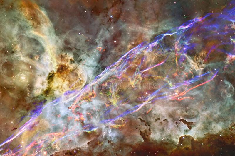 星美丽的星系和群空间夜 库存例证
