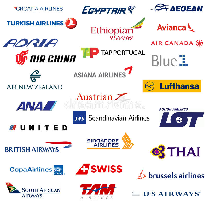 星联盟成员航空公司 向量例证