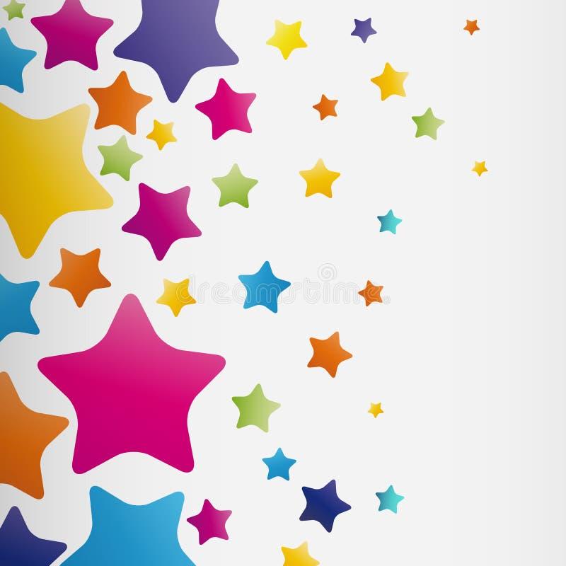 星背景,抽象传染媒介设计样式,五颜六色的元素 皇族释放例证