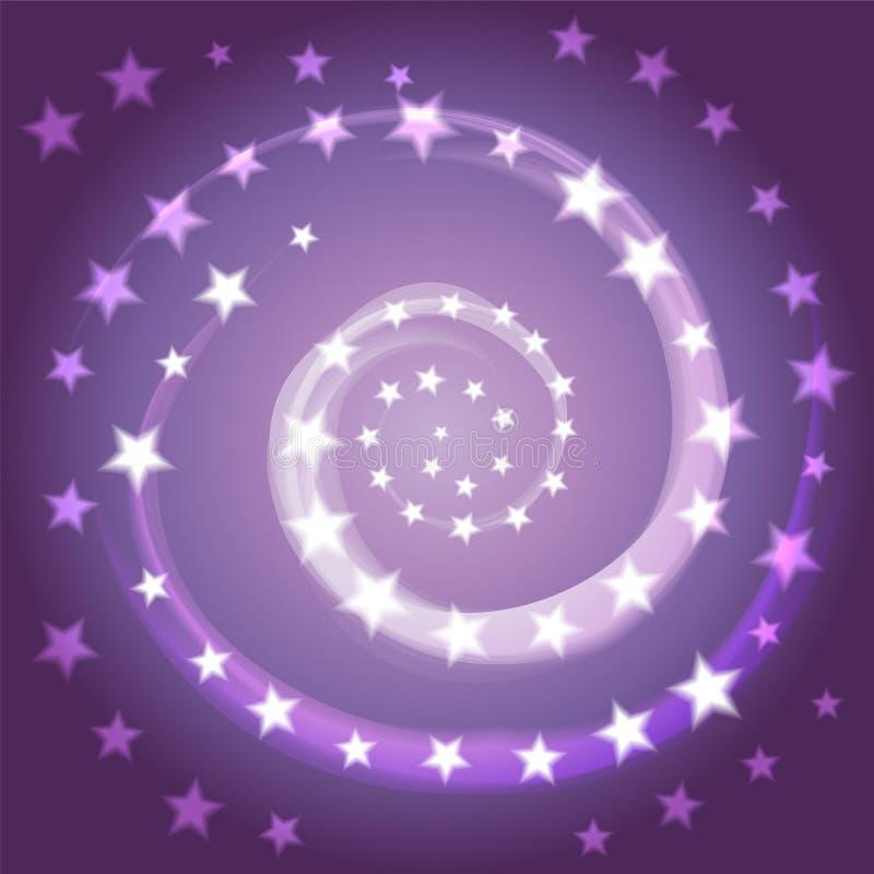 星螺旋 空间背景 宇宙,星系 向量例证