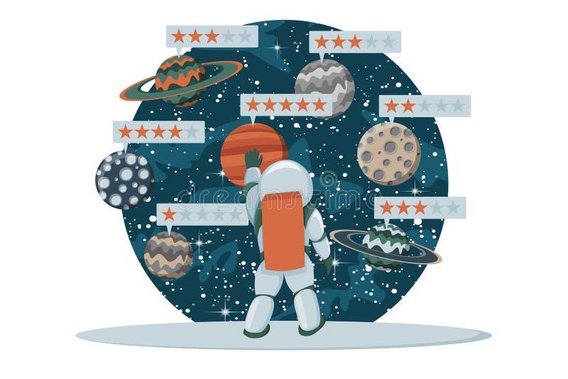 星规定值传染媒介例证平的设计 反馈概念 评估系统 皇族释放例证