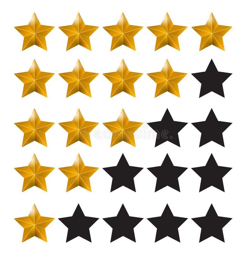 星规定值 评估系统和正面回顾标志 也corel凹道例证向量 向量例证