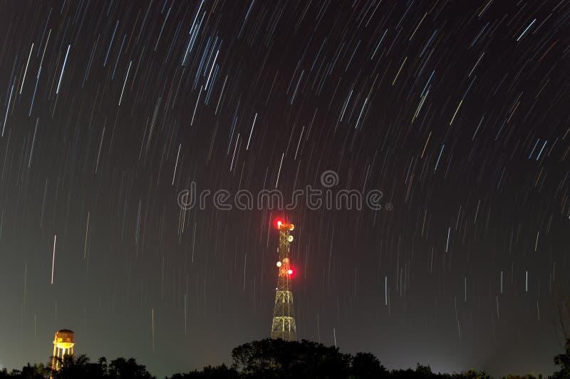 星足迹在晚上 免版税库存图片