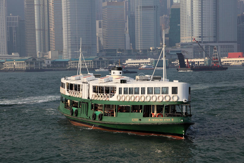 星轮渡在香港 免版税库存照片