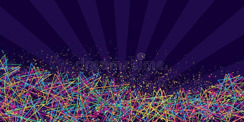 星释放五种颜色横幅 库存例证