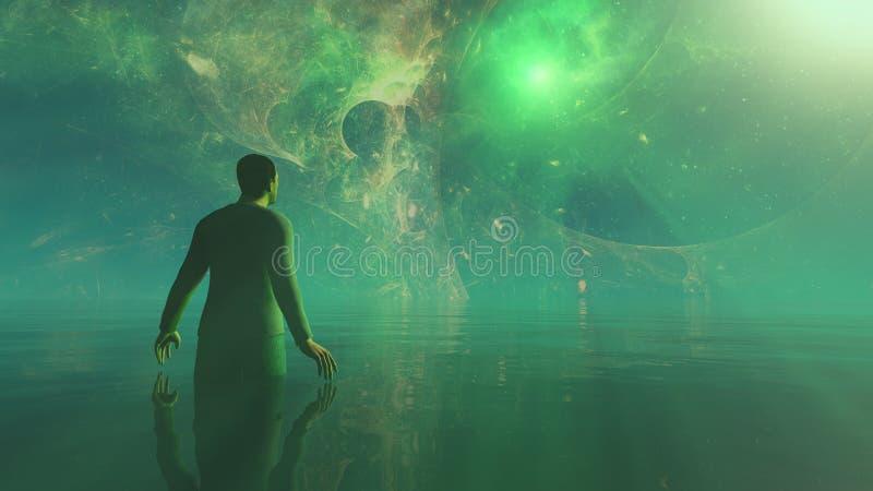 星门,其他世界的门户,梦想世界的人 皇族释放例证