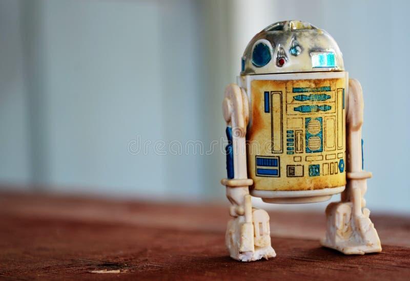 星际大战R2-D2玩具行动象征 免版税库存照片