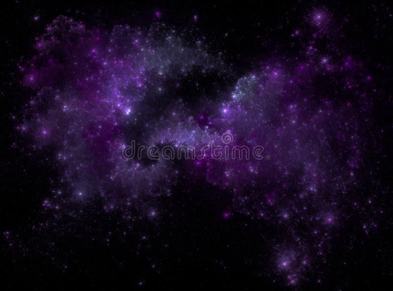 星际背景 满天星斗的外层空间背景纹理 五颜六色的繁星之夜天空外层空间背景 免版税库存图片