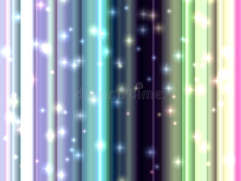 星,摘要闪耀的温和路线,抽象背景 皇族释放例证