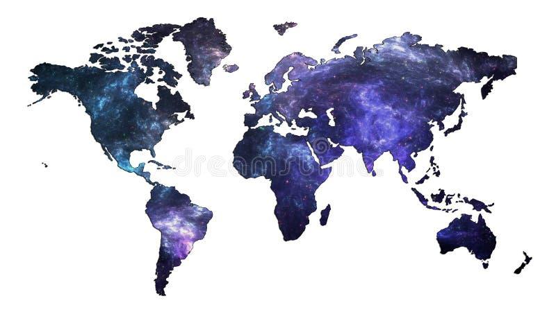 星系世界地图 库存例证