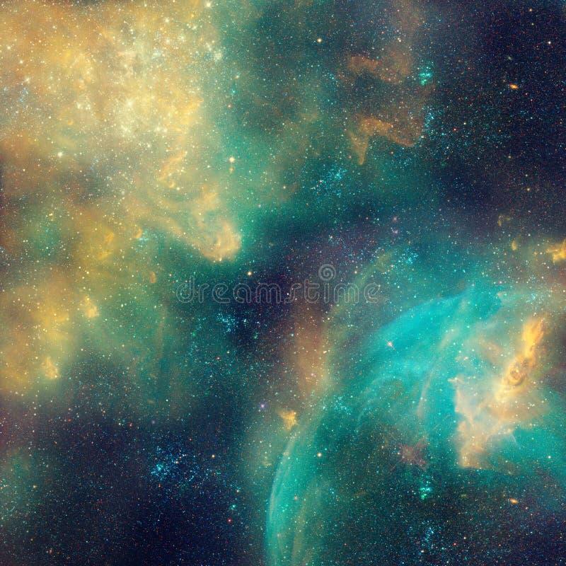 星系例证,与星的空间背景,星云,波斯菊覆盖 皇族释放例证