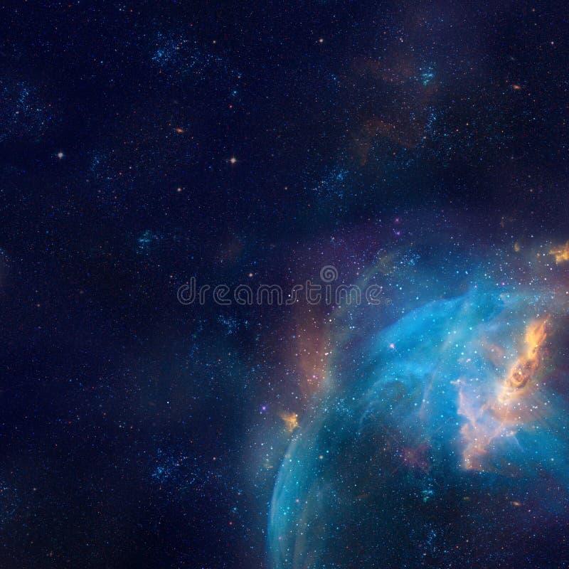 星系例证,与星的空间背景,星云,波斯菊覆盖 库存例证