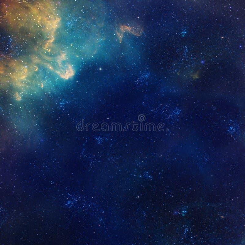 星系例证,与星的空间背景,星云,波斯菊覆盖 向量例证