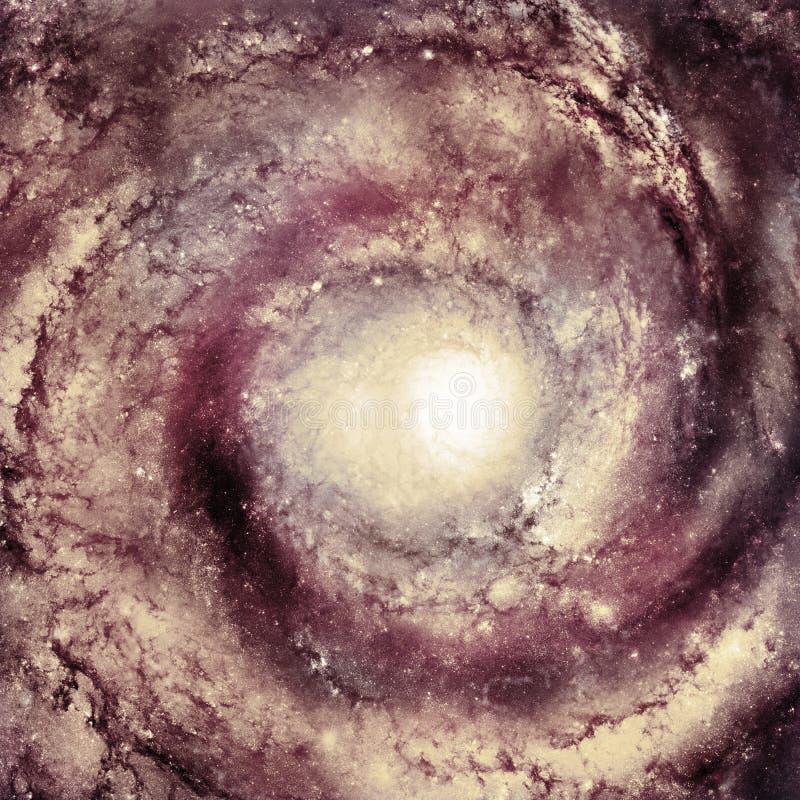 星系的中心-美国航空航天局装备的这个图象的元素 向量例证