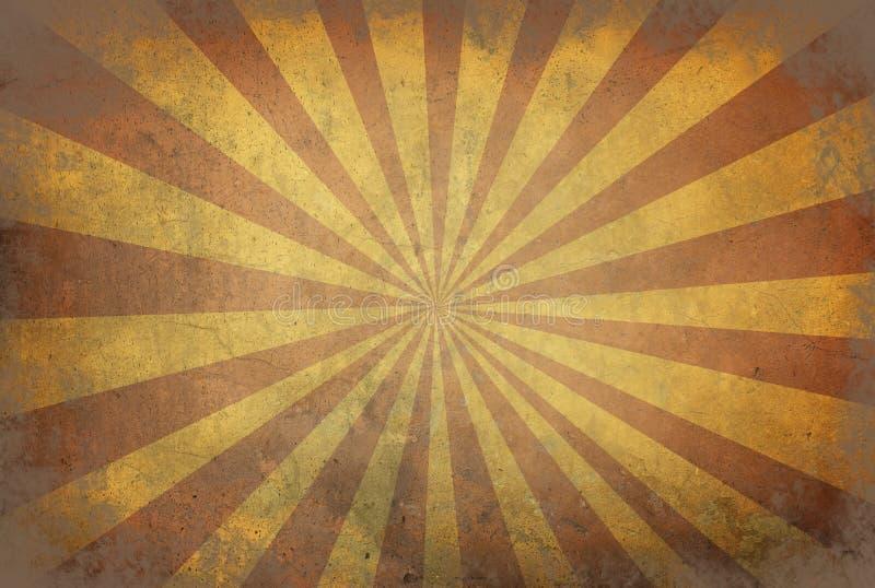星破裂了与条纹的背景在与dar的老减速火箭的纹理 皇族释放例证