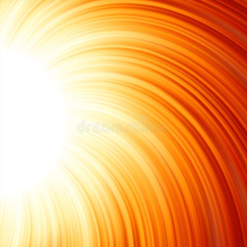 星破裂了红色和黄色火。 EPS 8 向量例证