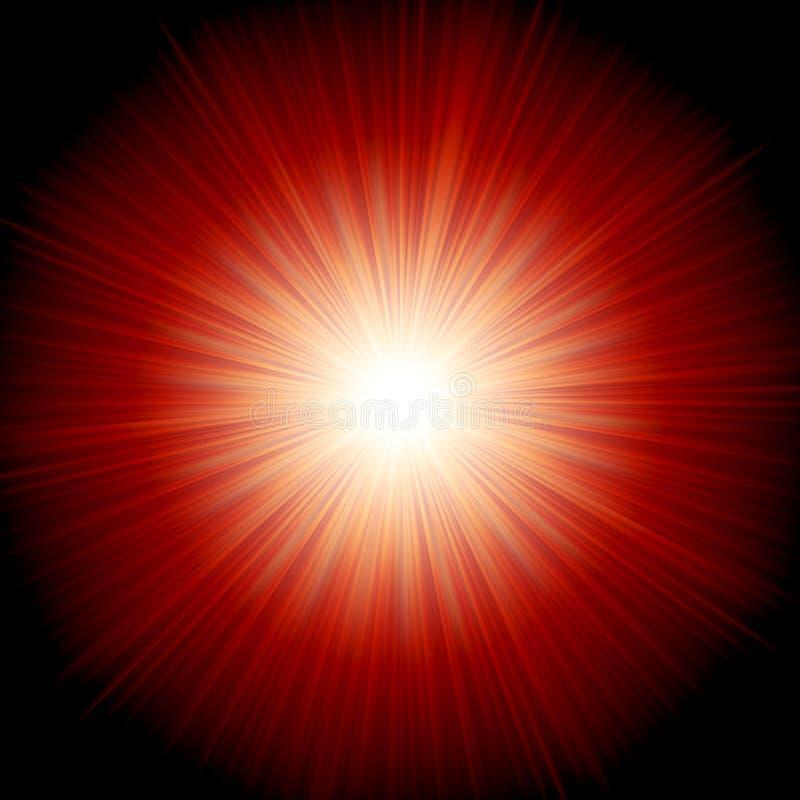 星破裂了红色和黄色火。EPS 10 库存例证