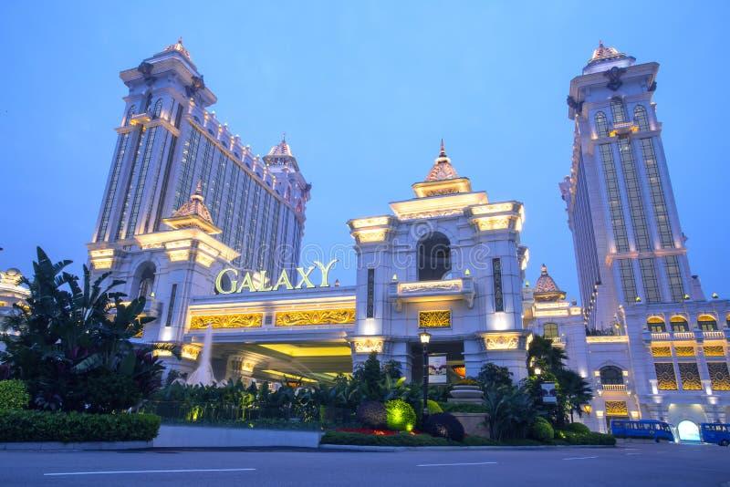 星系赌博娱乐场在澳门,中国 库存图片
