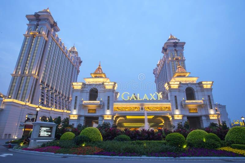星系赌博娱乐场在澳门,中国 图库摄影