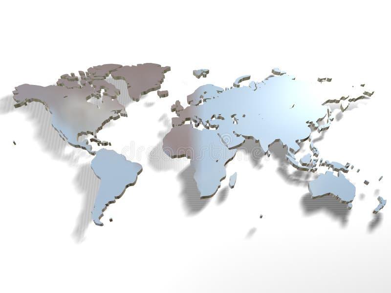 映射世界 向量例证