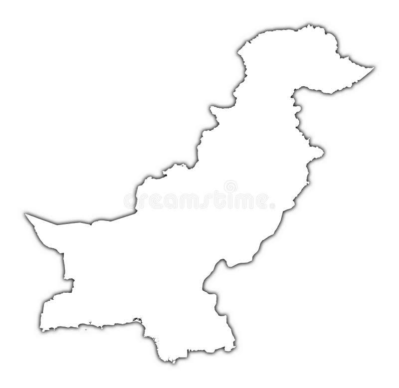 映射分级显示巴基斯坦 皇族释放例证