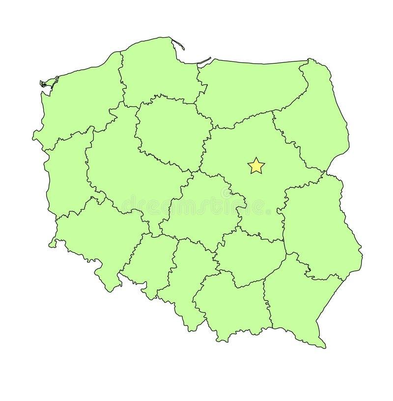 映射分级显示波兰 库存例证